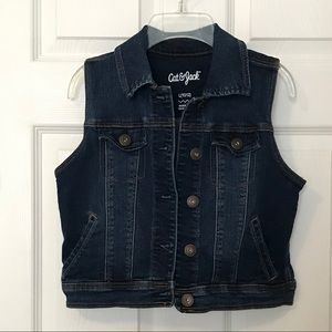 Girls Blue Denim Vest - Cat & Jack